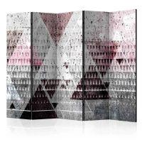 Triangles II skærmvæg. Dekorativ flytbar skillevæg / rumdeler til hjem eller kontor.