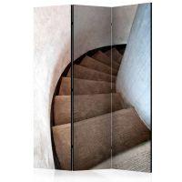 Spiral stairs skærmvæg. Dekorativ flytbar skillevæg / rumdeler til hjem eller kontor.