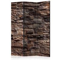 Stylish Bronze skærmvæg. Dekorativ flytbar skillevæg / rumdeler til hjem eller kontor.