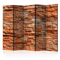 Orange Stone II skærmvæg. Dekorativ flytbar skillevæg / rumdeler til hjem eller kontor.