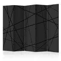 Dark Intersection II skærmvæg. Dekorativ flytbar skillevæg / rumdeler til hjem eller kontor.