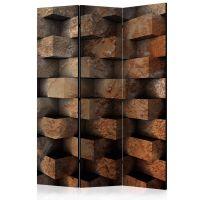 Brick  braid  skærmvæg. Dekorativ flytbar skillevæg / rumdeler til hjem eller kontor.