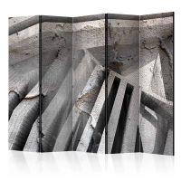 Beton 3D II skærmvæg. Dekorativ flytbar skillevæg / rumdeler til hjem eller kontor.