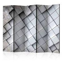 Gray background 3D II skærmvæg. Dekorativ flytbar skillevæg / rumdeler til hjem eller kontor.