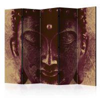 Wise Buddha II skærmvæg. Dekorativ flytbar skillevæg / rumdeler til hjem eller kontor.