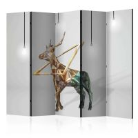 deer (3D) II skærmvæg. Dekorativ flytbar skillevæg / rumdeler til hjem eller kontor.