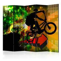 Bicycle Tricks II skærmvæg. Dekorativ flytbar skillevæg / rumdeler til hjem eller kontor.