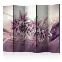Purple Secrecy II skærmvæg. Dekorativ flytbar skillevæg / rumdeler til hjem eller kontor.