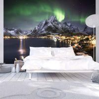Aurora borealis fotostat - flot foto tapet til væggen