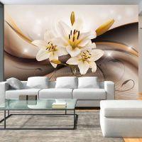 Golden Lily fotostat - flot foto tapet til væggen