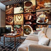 Coffee - Collage fotostat - flot foto tapet til væggen
