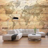 Map on Boards fotostat - flot foto tapet til væggen