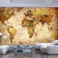 Old World Map fotostat - flot foto tapet til væggen