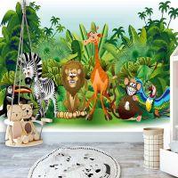 Jungle Animals fotostat - flot foto tapet til væggen