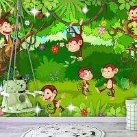 Monkey Tricks fotostat - flot foto tapet til væggen
