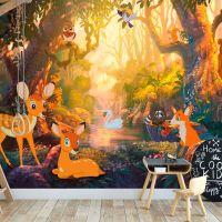 Animals in the Forest fotostat - flot foto tapet til væggen
