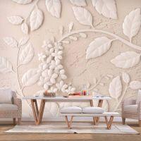 Paper Flowers (Beige) fotostat - flot foto tapet til væggen