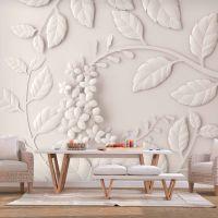 Paper Flowers (Cream) fotostat - flot foto tapet til væggen