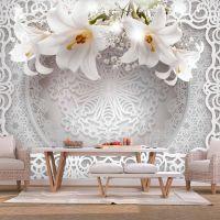 Lilies and Ornaments fotostat - flot foto tapet til væggen