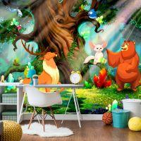 Bear and Friends fotostat - flot foto tapet til væggen