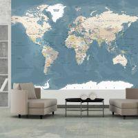 Vintage World Map fotostat - flot foto tapet til væggen