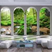 Pillars and Forest fotostat - flot foto tapet til væggen