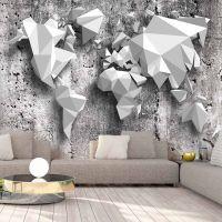 World Map: Origami fotostat - flot foto tapet til væggen