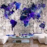 World Map: Ink Blots fotostat - flot foto tapet til væggen