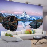 Lonely Mountain fotostat - flot foto tapet til væggen