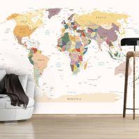World Map fotostat - flot foto tapet til væggen