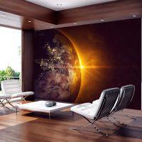 Golden Earth fotostat - flot foto tapet til væggen
