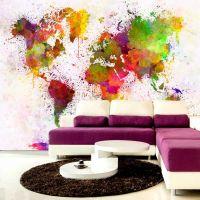 Dyed World fotostat - flot foto tapet til væggen