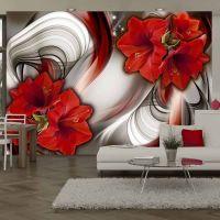 Amaryllis - Ballad of the Red fotostat - flot foto tapet til væggen