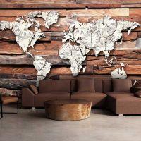 Map On Wood fotostat - flot foto tapet til væggen