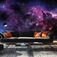 Purple Nebula fotostat - flot foto tapet til væggen