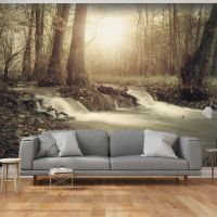 Forest Cascade fotostat - flot foto tapet til væggen