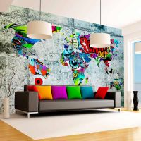 Map - Graffiti fotostat - flot foto tapet til væggen