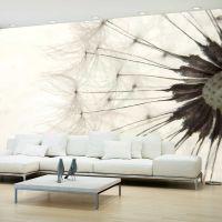 White Dandelion fotostat - flot foto tapet til væggen