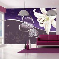 Lily in shades of violet fotostat - flot foto tapet til væggen