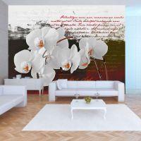 Diary and orchid fotostat - flot foto tapet til væggen