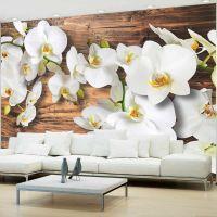 Forest Orchid fotostat - flot foto tapet til væggen