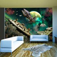 Space fleet fotostat - flot foto tapet til væggen