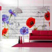 Wildflowers fotostat - flot foto tapet til væggen