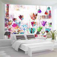 Colorful tulips fotostat - flot foto tapet til væggen