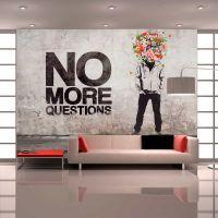 No more questions fotostat - flot foto tapet til væggen