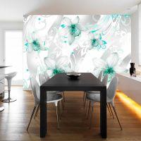 Sounds of subtlety - turquoise fotostat - flot foto tapet til væggen