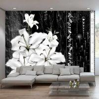 Crying lilies fotostat - flot foto tapet til væggen