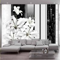 Crying lilies in white fotostat - flot foto tapet til væggen