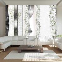 Parade of orchids in shades of gray fotostat - flot foto tapet til væggen
