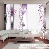 Parade of orchids in violet fotostat - flot foto tapet til væggen